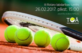 Aicinām piedalīties un atbalstīt labdarības tenisa turnīru